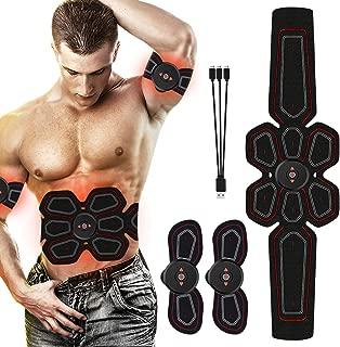 Ben Belle ABS Stimulator Muscle Toner Abdominal Toning Belt Workouts Portable EMS Training Home Office Fitness Equipment for Abdomen/Arm/Leg Training(USB Charging)