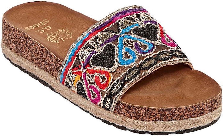 Gc shoes Women's Vivi Espadrille Bohemia Strap Footbed Slide Sandals