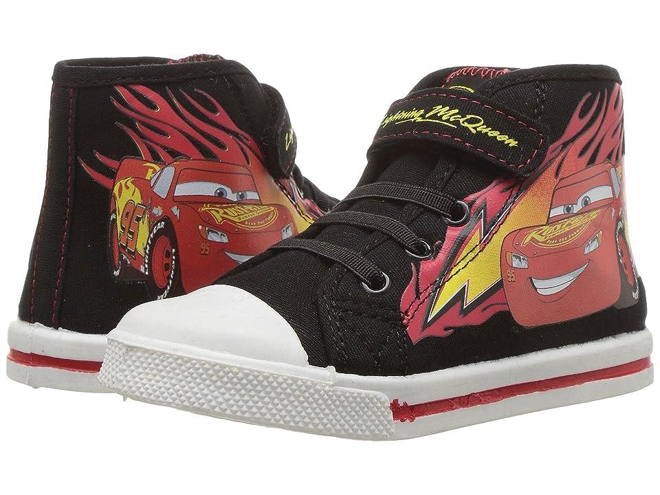 Josmo Kids Cars Hi Top Sneaker (Toddler/Little Kid) (Black/Red) Boy