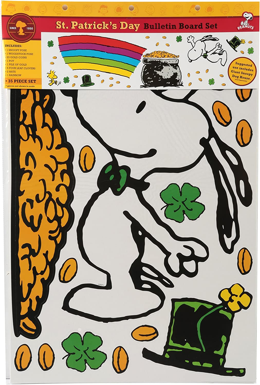 Eureka Peanuts St. Patrick's Day Bulletin 847687 Board Sets Max Choice 48% OFF