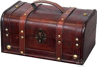 Vintiquewise(TM) Decorative Treasure Box - Wooden Trunk Chest
