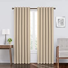 Absolute Zero 11718050X084CA Velvet Blackout Home Theater 50-Inch by 84-Inch Single Curtain Panel, Cafe