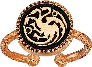 Alex and Ani Women's Game of Thrones, Targaryen Signet Adjustable Ring.925 Sterling Silver