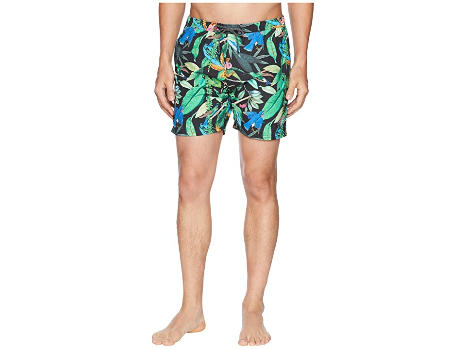 Scotch & Soda Elasticated Swim Shorts with Colourful All Over Print (Combo A) Men