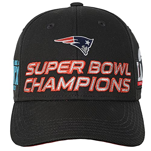 d96803f2886 New England Patriots Super Bowl 51 Champions Youth Structured Adjustable  Hat Black One Size