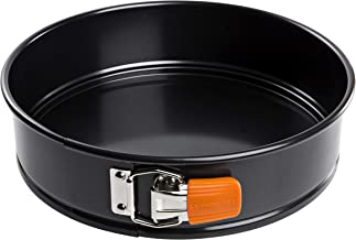 LE CREUSET 94101125000000 Toughened Non-Stick Bakeware Springform Round Cake Tin, 24 cm, Carbon