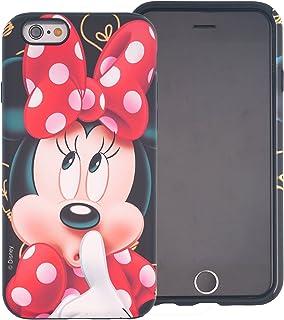 iPhone 8 / iPhone 7 Case, DISNEY Cute Minnie Mouse Layered Hybrid [TPU + PC] Bumper Cover [Shock Absorption] for iPhone8 / iPhone7 (4.7inch) - Idea Minnie Mouse