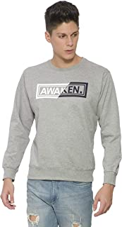 Alan Jones Men's Cotton Printed Round Neck Sweatshirt