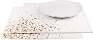 Signature Napkins Gold Stars Premium Dinner Napkins -...