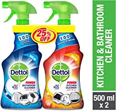 Dettol Orange Healthy Kitchen Power Cleaner Trigger Spray 500 ml And Healthy Bathroom Power Cleaner Trigger, 500 ml