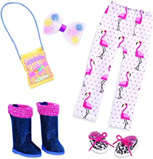 Glitter Girls Dolls by Battat – 14-inch Doll Clothes and Accessories – Polka Dot Flamingo Leggings, Shoes, Glitter Boots, ...