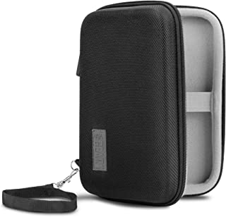 USA Gear Carrying Case - Compatible with GPD Win (2, XD, X7) - Hard Shell Exterior and Internal Accessory Pocket - Holds Handheld Tablet, Cables, Chargers, SD Memory Cards and More Accessories
