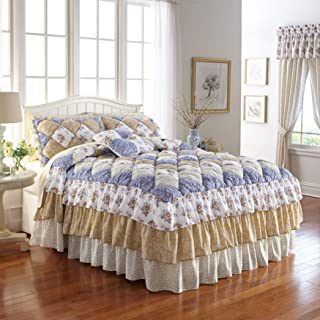 BrylaneHome Alexis Bedspread - Gold Blue, King
