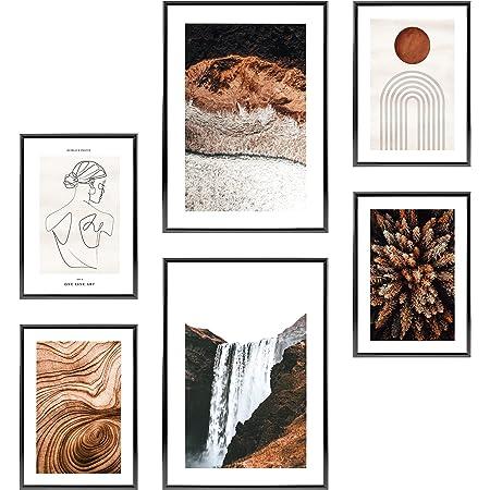 Heimlich® Tableau Décoration Murale - sans Cadres -Set de Poster Premium pour la Maison, Bureau, Salon, Chambre, Cuisine -2 x A3 & 4 x A4-30x42 & 21x30   » t Chute D «