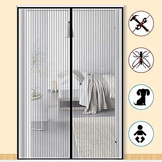 MENGH Mosquitera Puertas corredera 70x180 CM Pantalla Magn/éTica Cerrado autom/áticamente Plegable Protecci/ón contra Insectos para Pasillos//Puertas Blanco
