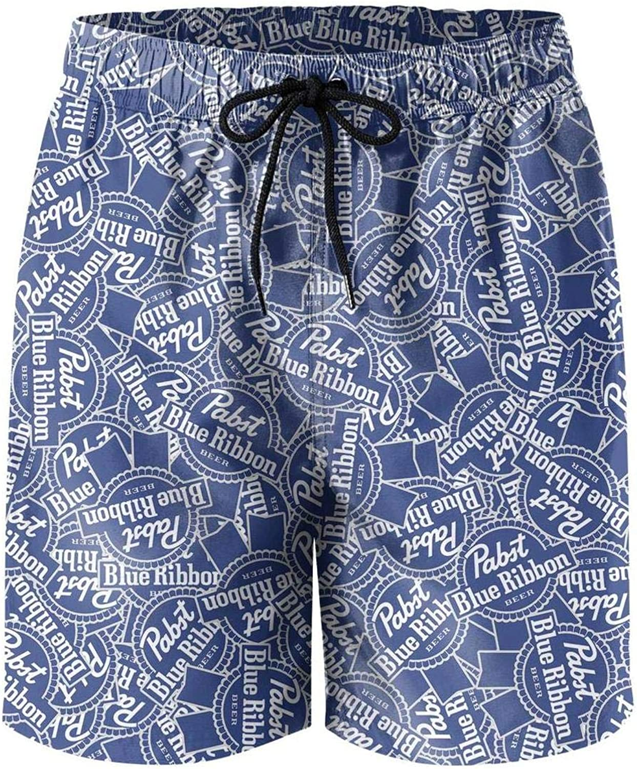 URTEOM Mens Swim Trunks Adjustable Quick Dry Beach Shorts with Pockets for Summer