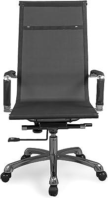Due-home Silla de Oficina, sillón para despacho o Estudio, Medidas: 58x108x62