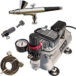 Juego completo de aerógrafo mini compresor AS18B pistola de pulverización ABC-180 manguera