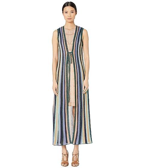 M Missoni Maxi Lurex Cardigan in Multicolor Stripes