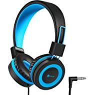 iClever Kids Headphones - Wired Headphones for Kids, Adjustable Headband, Stereo Sound, Foldable,...