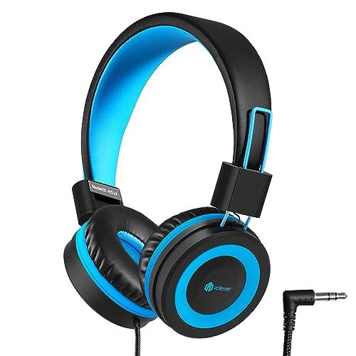 5b435f8b252 iClever Kids Headphones - Wired Headphones for Kids, Adjustable Headband,  Stereo Sound, Foldable