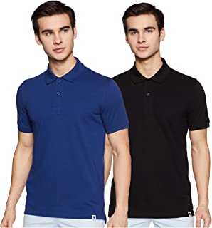 Amazon Brand - Symbol Men's Solid Regular fit Polo (Pack of 2)