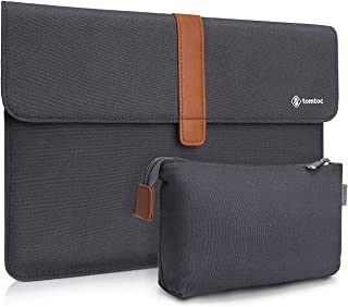 tomtoc Slim Envelope Sleeve Carrying Case for New MacBook Pro Touch Bar 15 Inch Late 2016 - 2019 A1990 A1707, with Accessory Pouch
