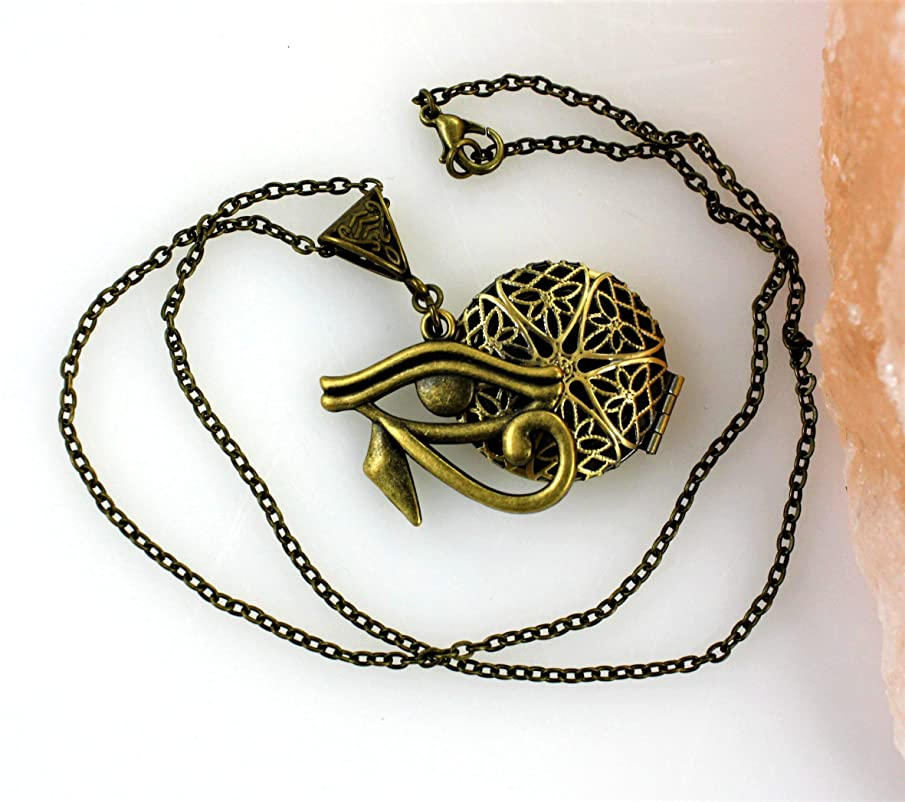 Eye of Horus Essential Oil Diffuser Necklace