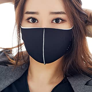 MASK Protective Fashion Air Mask | Washable and Reusable | Triple Layered Face Mask | Duo Black X White