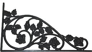 Address America Rose Design Sign Bracket Polypropylene Decorative Wrought Iron Look