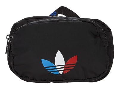 adidas Originals Originals Sport Waist Pack Fanny Pack Travel and Festival Bag (Black/Tricolor Trefoil) Handbags