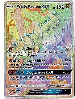 Sun Moon - Dragon Majesty - Full Art White Kyurem GX - 74/70 - Secret Rare Rainbow Foil Card