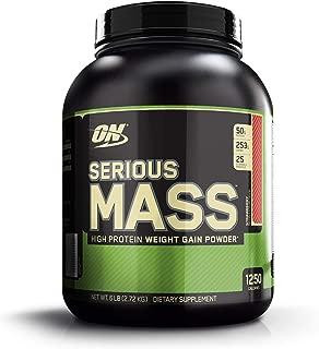 OPTIMUM NUTRITION Serious Mass Weight Gainer Protein Powder, Strawberry, 6 Pound