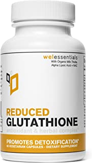 Pure Reduced Glutathione with Organic Milk Thistle by WEL Essentials | 60 Capsules