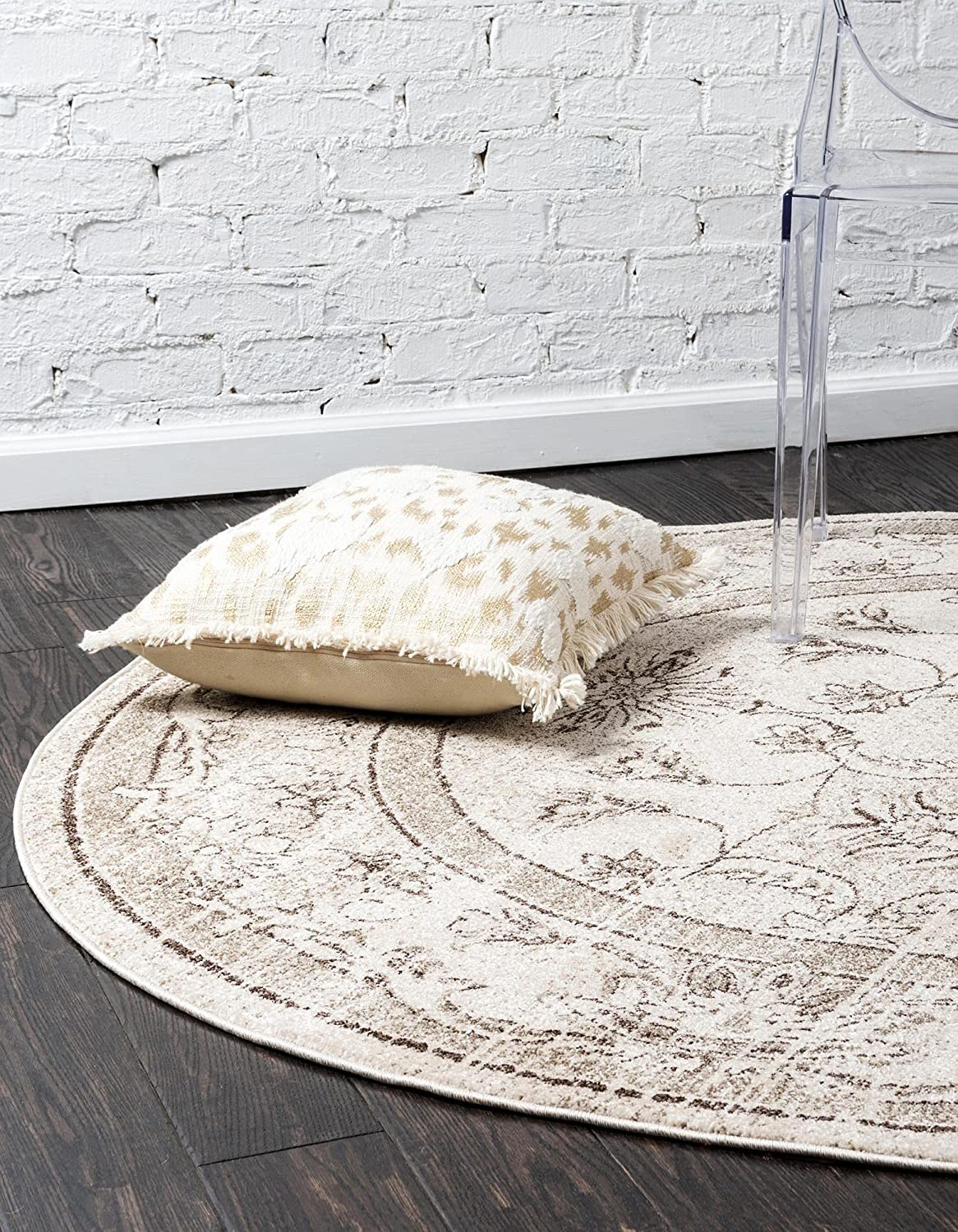 Factory outlet Unique Loom La Jolla Collection Tone Rug Round Fe 6 Traditional Max 58% OFF