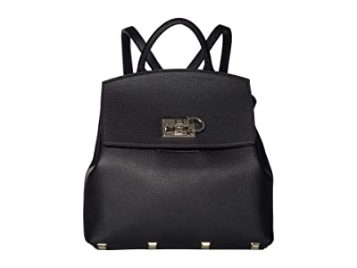 Salvatore Ferragamo The Studio Backpack (Nero) Backpack Bags