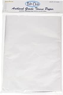RetroClean Unbuffered Archival Grade Tissue Paper, 24-Inch x 36-Inch, 12 sheets