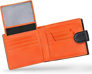 Mirakle Portafoglio Uomo Vera Pelle Blocco RFID con Cerniera Portamonete, 2 Scomparti Banconote, 14 Porta Carte di Credit...