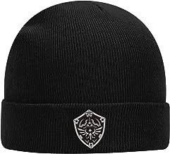 Controller Gear Zelda Breath of The Wild Silver Shield Knit Hat Beanie, Black, One Size