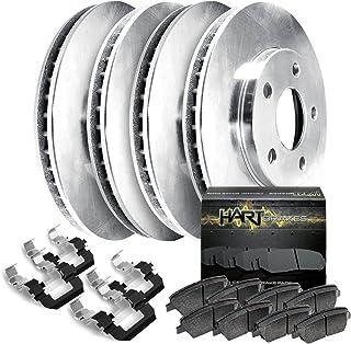 Front Rear Disc Rotors /& Ceramic Brake Pads Fits Kia Rondo