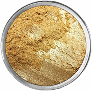 24k Gold Loose Powder Mineral Shimmer Multi Use Eyes Face Color Makeup Bare Earth Pigment Minerals Make Up Cosmetics By MAD Minerals Cruelty Free - 10 Gram Sized Sifter Jar