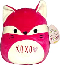 Kellytoy Squishmallows Valentine's Day Themed Pillow Plush Toy (Pink XOXO Fox, 9 inches)