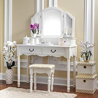 elegant makeup vanity set