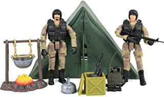 Click N' Play Military Life Camping Set 12 Piece Play Set with Accessories.