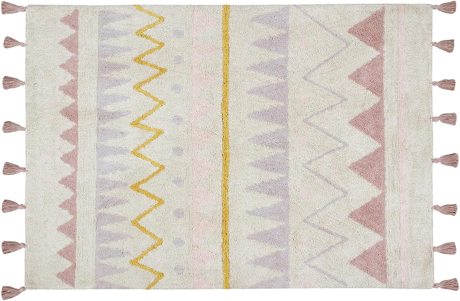 Hippy Stars Vintage Nude - Washable Rug by Lorena Canals