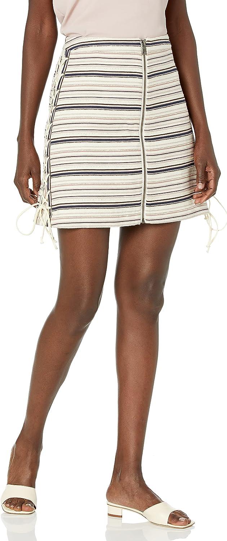 BCBGMAXAZRIA Women's Brittany Lace-up Mini Skirt
