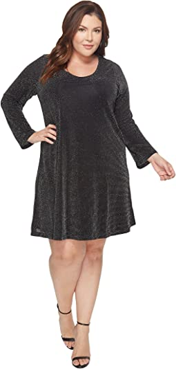 Karen Kane Plus - Plus Size Sparkle Knit Taylor Dress