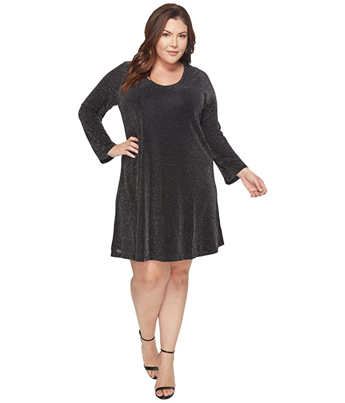 Karen Kane Plus Plus Size Sparkle Knit Taylor Dress | 6pm