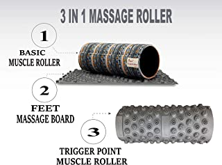 Skyin Trigger Point Foam Roller,3 in 1,Different from Traditional Foam Roller,Smooth Cotton Roller & Trigger Point Rollers & Foot Massage Board,from Beginners to Professionals