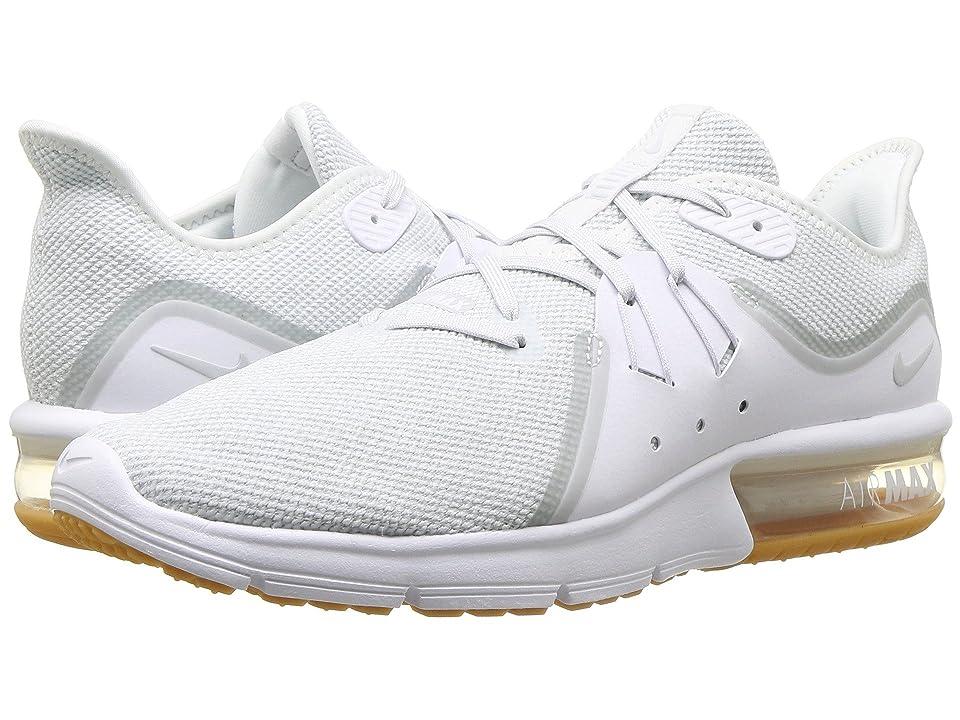 Nike Air Max Sequent 3 (White/Pure Platinum) Men